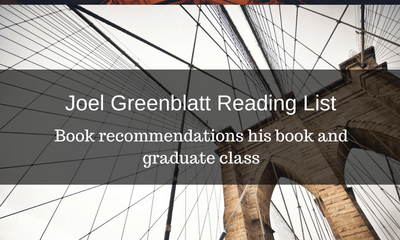 Joel Greenblatt Reading List: 13 Book Recommendations
