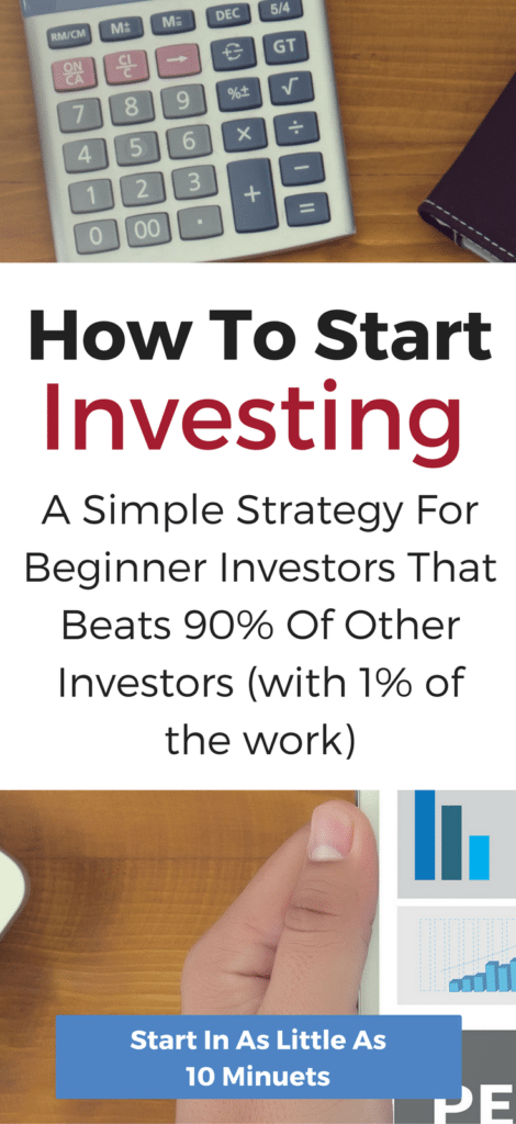 A simple guide to for beginning investors. Discover how anyone can start investing in as little as 10 minutes with a proven strategy to beat 90% of other investors.