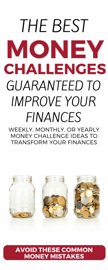 Looking to improve your finances? Check out these weekly, 30-day, and 52-week money saving challenges and money making challenges. Build an emergency fund, get out of debt, earn money on the side—use these ideas, printables, and worksheets to transform your financial future starting right now!