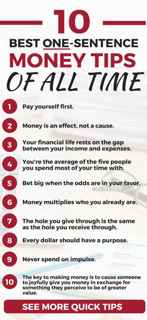 The BEST financial wisdom I've ever read or heard. Best Personal Finance Tips I financial tips l budget l finance strategies l investment l money making l money saving | hacks